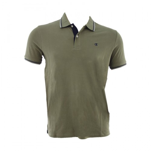 CHAMPION T SHIRT POLO 211847 GS518 OLIVE