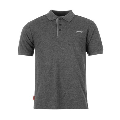 SLAZENGER PLAIN POLO SHIRT 542033 26 ΑΝΘΡΑΚΙ