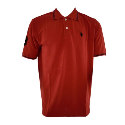 US POLO T SHIRT POLO BIGSIZES RED ΚΟΚΙΝΟ