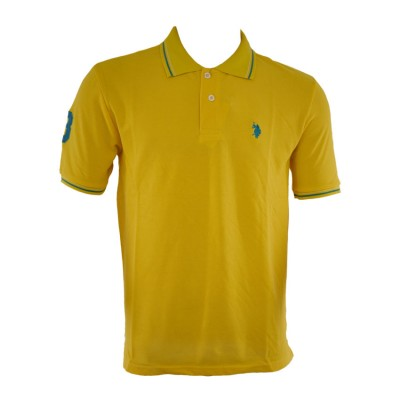 US POLO T SHIRT POLO BIGSIZES YELLOW ΚΙΤΡΙΝΟ