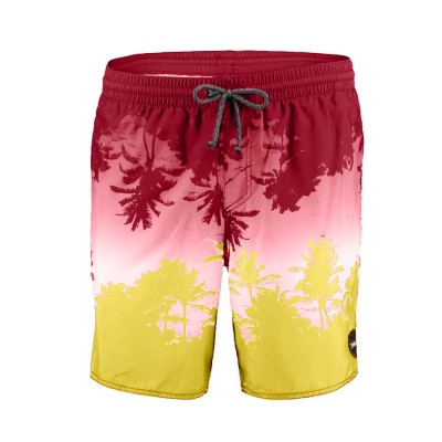 O NEILL PALM SHORTS 7A3608 BORDEAUX ΜΠΟΡΝΤΟ ΚΙΤΡΙΝΟ