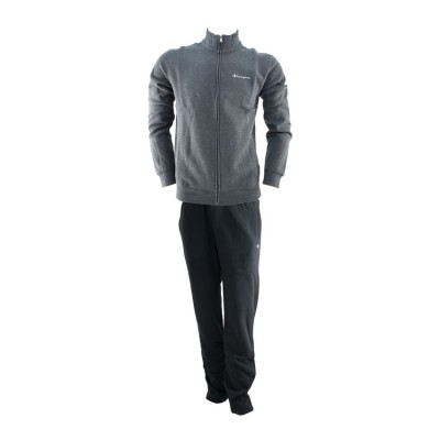 CHAMPION FULL ZIP SUIT 213613 EM501 ΓΚΡΙ ΜΑΥΡΟ