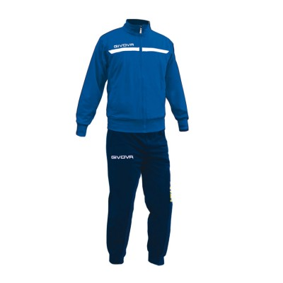 GIVOVA TRACKSUIT TUTA ONE FULL ZIP TT012 ΡΟΥΑ ΜΠΛΕ