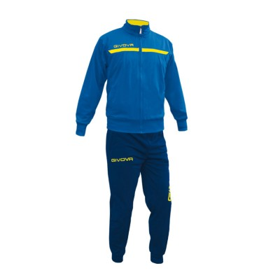 GIVOVA TRACKSUIT TUTA ONE FULL ZIP TT012 ΡΟΥΑ ΚΙΤΡΙΝΟ