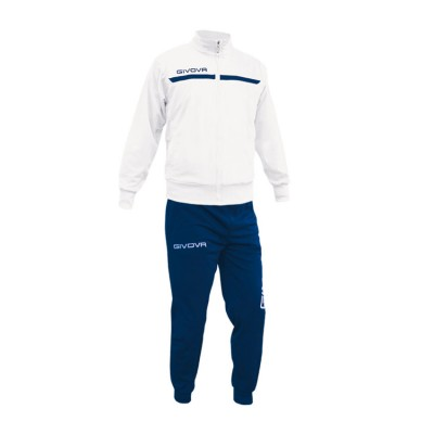 GIVOVA TRACKSUIT TUTA ONE FULL ZIP TT012 ΛΕΥΚΟ ΜΠΛΕ