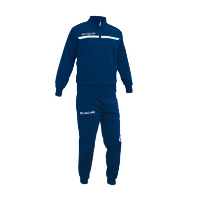 GIVOVA TRACKSUIT TUTA ONE FULL ZIP TT012 ΜΠΛΕ ΛΕΥΚΟ