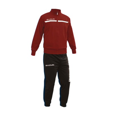 GIVOVA TRACKSUIT TUTA ONE FULL ZIP TT012 ΜΠΟΡΝΤΟ ΜΑΥΡΟ