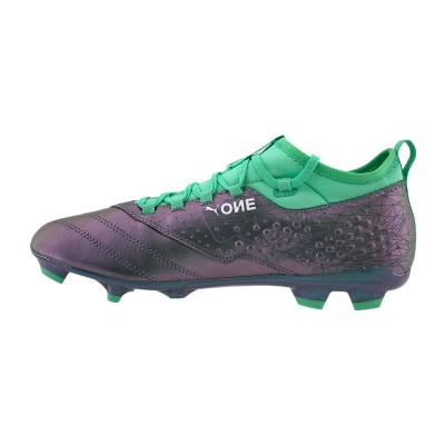 PUMA ONE 3 ILLUMINATE LEATHER FG 104928 01 ΠΡΑΣΙΝΟ ΓΚΡΙ