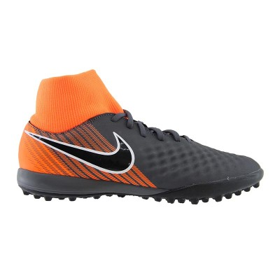 NIKE MAGISTA OBRAX 2 DYNAMIC FIT TF AH7311 080 ΑΝΘΡΑΚΙ ΠΟΡΤΟΚΑΛΙ
