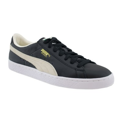 PUMA BASKET CLASSIC LEATHER 351912 02 ΜΑΥΡΟ