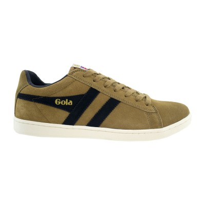 GOLA SUEDE LEATHER CMA495FE ΚΑΦΕ ΜΑΥΡΟ