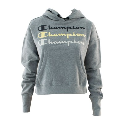 CHAMPION HOODED SWEATSHIRT 112490 EM006 ΓΚΡΙ