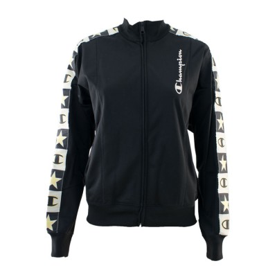 CHAMPION JACKET FULL ZIP 112495 KK001 ΜΑΥΡΟ ΕΚΡΟΥ