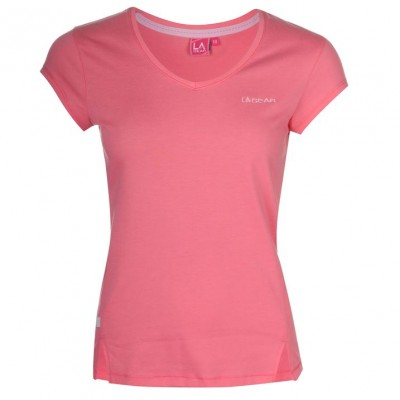 LA GEAR T SHIRT V NECK  PINK ΡΟΖ