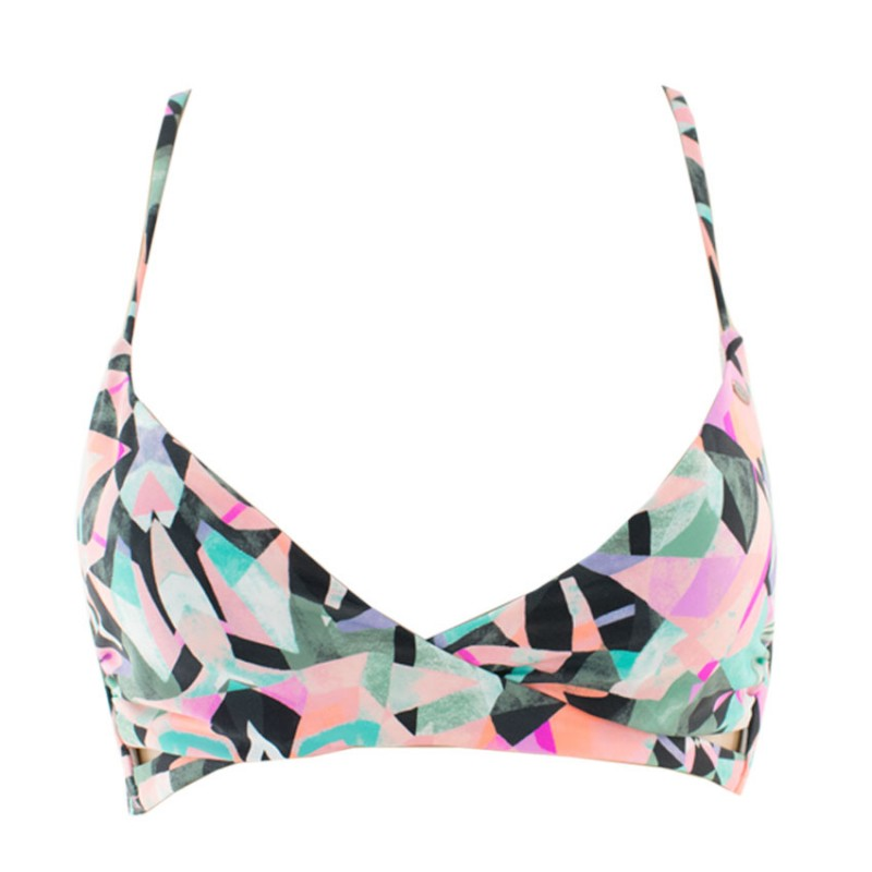 O NEILL SWIMSUIT MIX TOP 9A8512 1960 BRIGHT GREEN SALMON