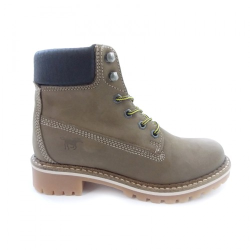MUSTANG LEATHER 2837503 OLIVE ΛΑΔΙ