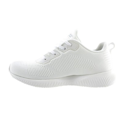 SKECHERS BOBS SQUAD TOUGH TALK 32504 WHT ΛΕΥΚΟ