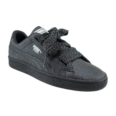 PUMA BASKET HEART HOLIDAY GLAMOUR 367630 02 ΜΑΥΡΟ