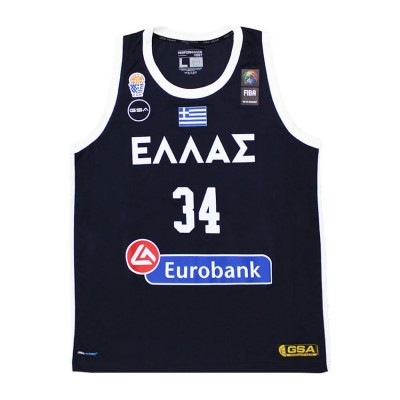 GSA HELLAS GAME SHIRT 34 ANTETOKOUNMPO KID 1793065 017