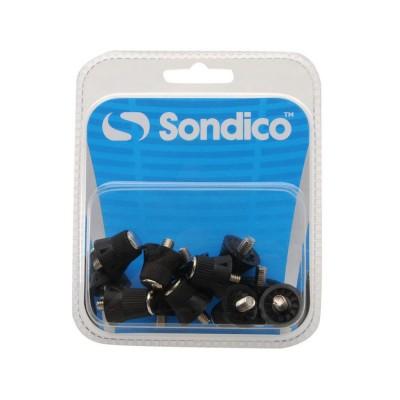 SONDICO PRO ALLOY TIPP FOOTBALL STUDS 840105 ΜΑΥΡΟ
