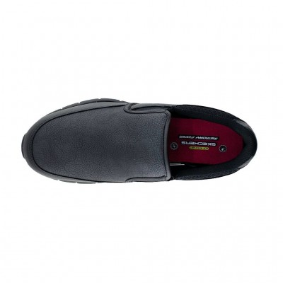 SKECHERS WORK RELAXED FIT NAMPA ANNOD SR 77236-BLK