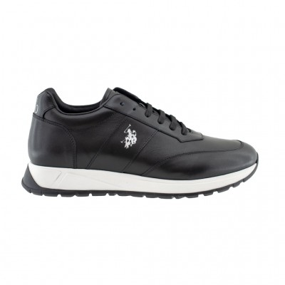 US POLO LEATHER NICKY BLK