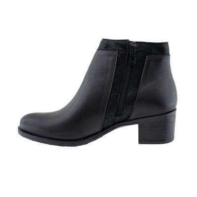 RAGAZZA LEATHER BOOTS 0362 ΜΑΥΡΟ
