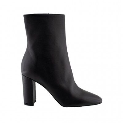 BIANCA DI BOOTS LEATHER C2518 ΜΑΥΡΟ