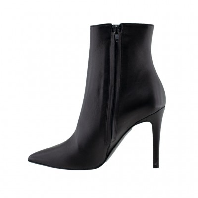 BIANCA DI BOOTS LEATHER C137 ΜΑΥΡΟ