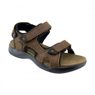 LUMBERJACK EARTH LEATHER SANDAL SM30606 004 P95 CE001