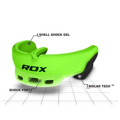 RDX 3GN GREEN MOUTH GUARD ADULT GGS-3GN
