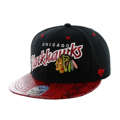 47 OFFICIAL NHL CUP CHICAGO BLACKHAWKS BLK RED