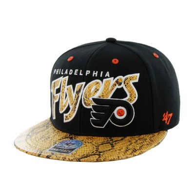 47 OFFICIAL NHL CUP PHILADEPHIA FLYERS BLK YELLOW