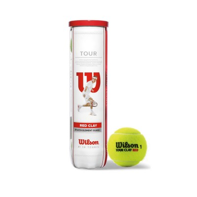 WILSON TOUR CLAY RED 4TBALL WRT110800